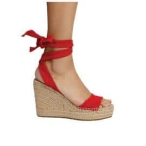 Kenneth Cole NY Redish Suede Gladiator Wedges (6.5